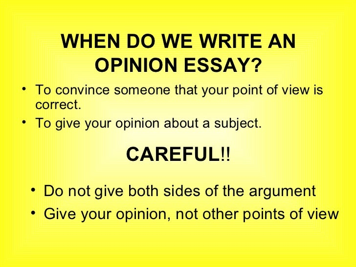 a guideline on how to write a opinion paper