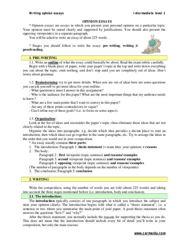 opinion essay topics