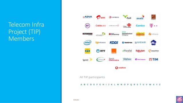 Telecom Infra Project (TIP) Members ©3G4G