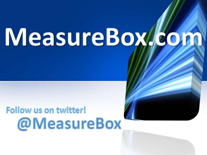 MeasureBoxYou can get the weather or stockprices on the internet any time youlike. With Opinion Trackers you cantrack lite...