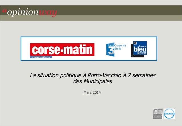 La situation politique à Porto-Vecchio à 2 semaines  des Municipales  Mars 2014