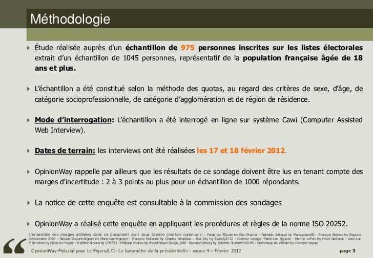 Opinionway/Fiducial pour le Figaro et LCI - le baromètre de la Présidentielle 2012 - vague4 Slide 3