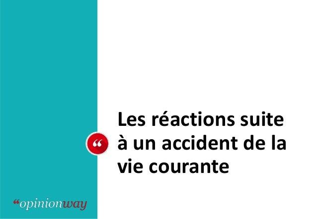 Les réactions suite à un accident de la vie courante