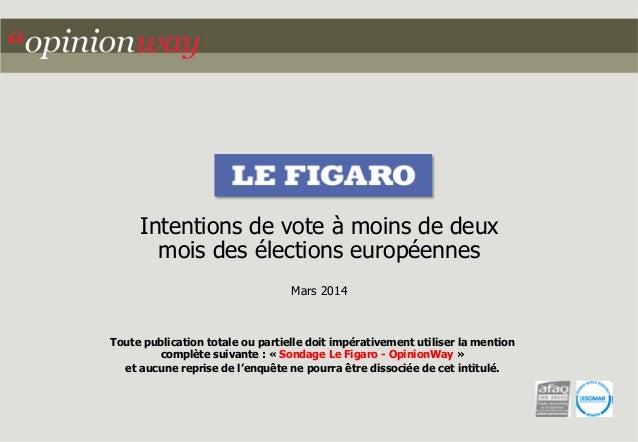 Toute publication totale ou partielle doit impérativement utiliser la mention complète suivante : « Sondage Le Figaro - Op...