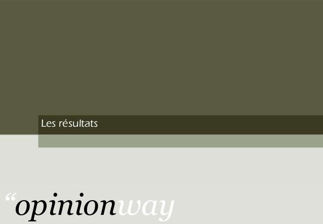Les résultats ''opinionway
