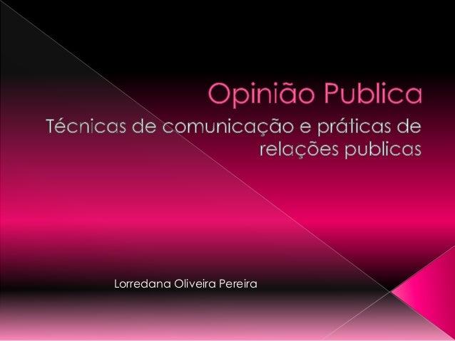 Lorredana Oliveira Pereira