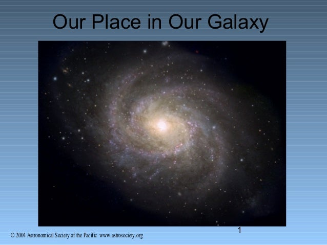 © 2004 Astronomical Society of the Pacific www.astrosociety.org 1 Our Place in Our Galaxy