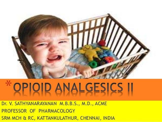 Dr. V. SATHYANARAYANAN M.B.B.S., M.D., ACME PROFESSOR OF PHARMACOLOGY SRM MCH & RC, KATTANKULATHUR, CHENNAI, INDIA *