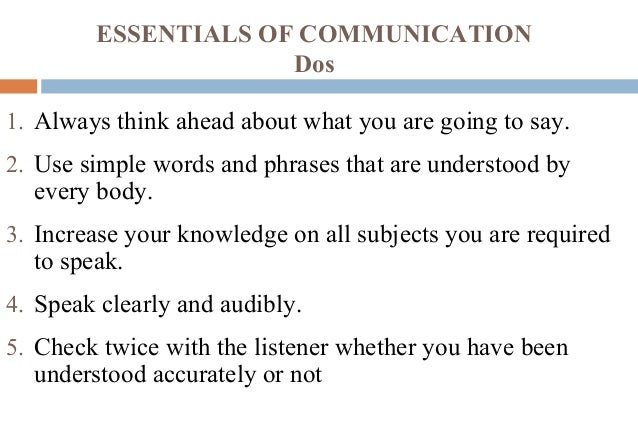 how to check if communication has been understood Communication systems are the  feedback to the sender indicating that the message has been understood and appropriate  check spelling , grammar, and.