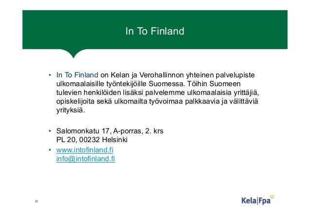 Oikeus Suomen Sosiaaliturvaan