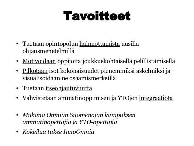 Poluttamo-webinaari: Osaamismerkit käyttöön opiskelijoiden kanssa - Esko Lius, Omnia Slide 3