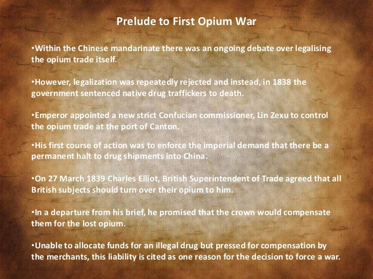 why were there three opium wars Dr rg tiedemann gives a survey of the factors behind the ignominious opium wars that the uk fought to understand why the anti-opium there were.