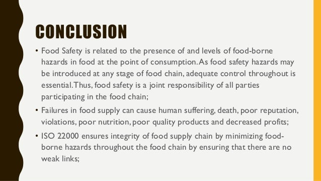 Iso 22000 Food Safety Management Systems A Presentation