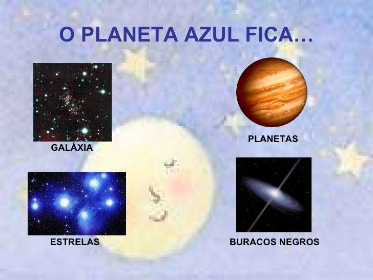 O PLANETA AZUL FICA… GALÁXIA PLANETAS ESTRELAS BURACOS NEGROS