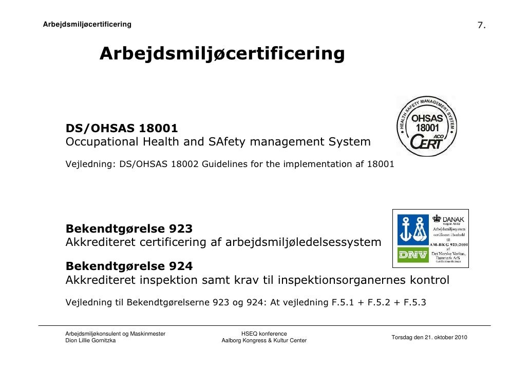 OHSAS 18001 2007 Requirements