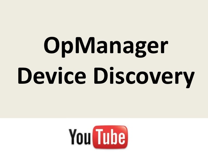 OpManagerDevice Discovery