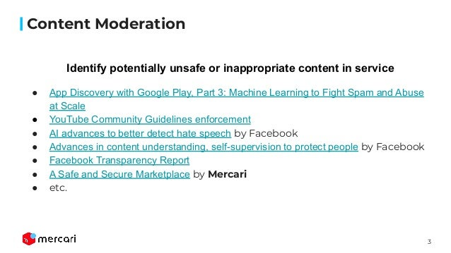 Auto Content Moderation in C2C e-Commerce at OpML20 Slide 3