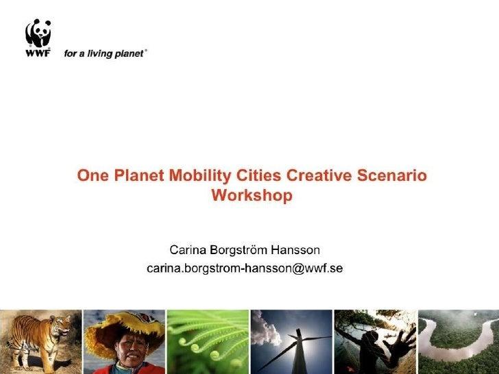 OPM Cities Creative Scenario Workshop Slide 1