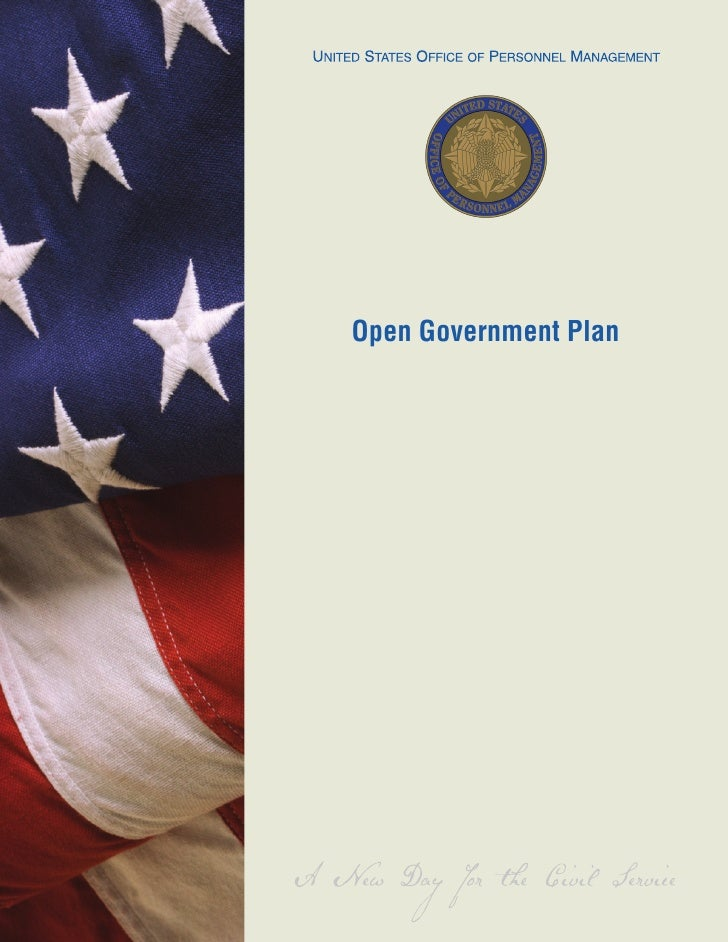 Open Government Plan     April 7, 2010