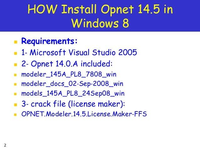 opnet 14.5 full license crack patch