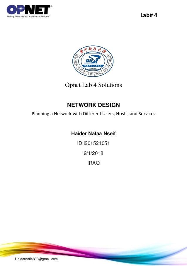 opnet lab 4 solutions rh slideshare net Lab Lab Plants Laboratory Testing