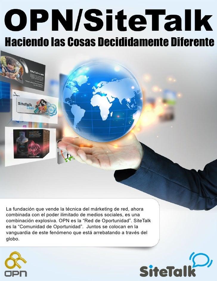 Haciendo las Cosas Decididamente DiferenteLa fundación que vende la técnica del márketing de red, ahoracombinada con el po...