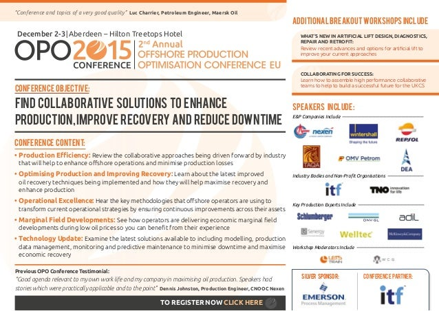 Conference Content: •Production Efficiency: Review the collaborative approaches being driven forward by industry that wil...