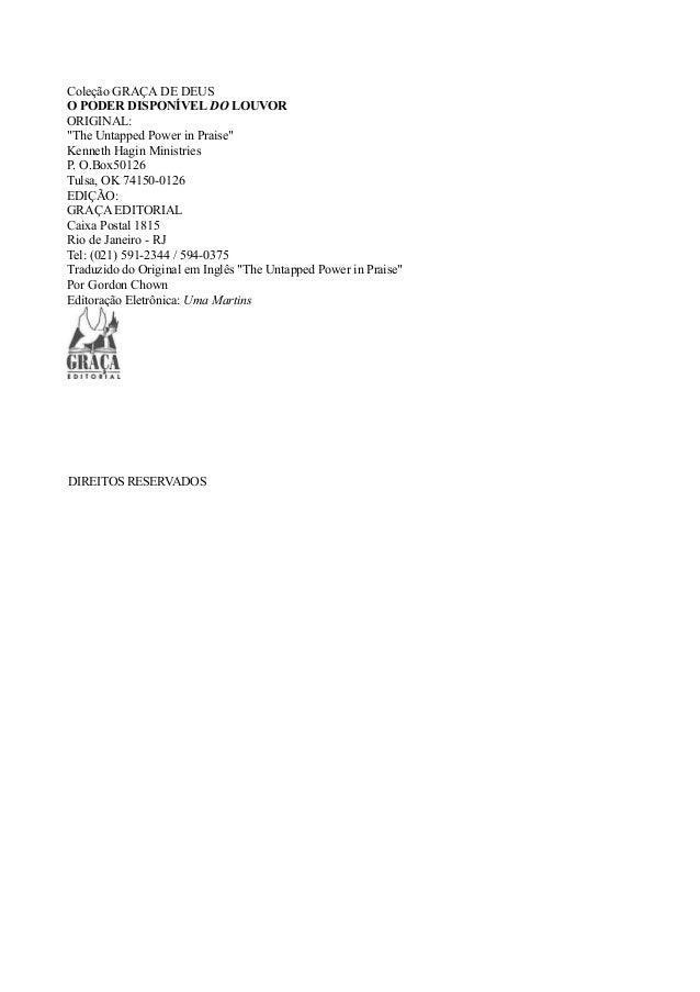 O poder disponível do louvor (kenneth hagin jr) Slide 2