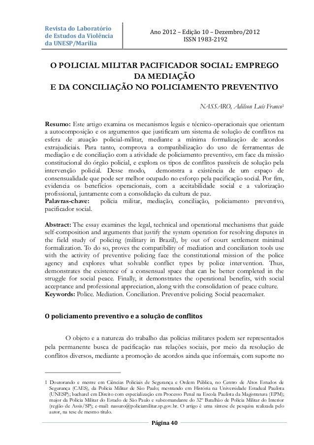 Revista do Laboratório                                                  Ano 2012 – Edição 10 – Dezembro/2012de Estudos da ...