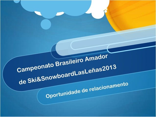 Um mercado emcrescimentoCalcula-se que 100.000 Brasileiros esquiem, 60%destes regularmente.A percepção de receptivos turís...