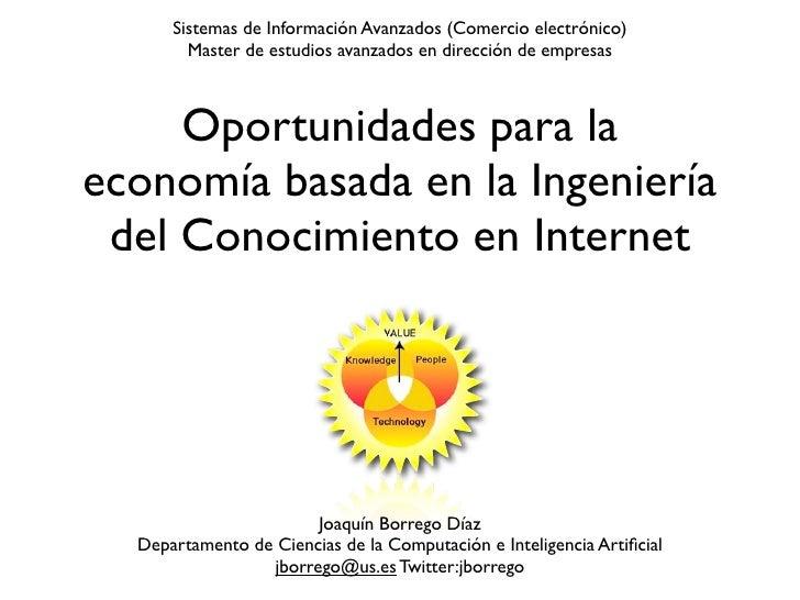 Sistemas de Información Avanzados (Comercio electrónico)        Master de estudios avanzados en dirección de empresas     ...
