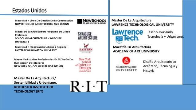 Oportunidades de estudio de post grado for Maestria en interiorismo arquitectonico