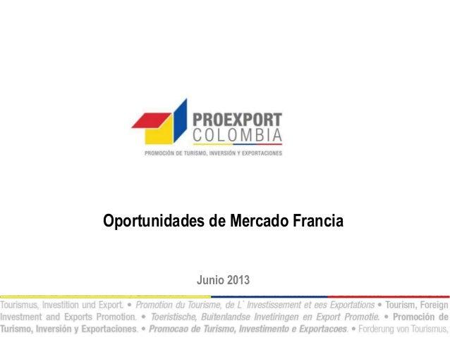 Oportunidades de Mercado FranciaJunio 2013