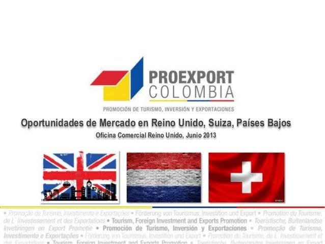 Oportunidades de Mercado en Reino Unido, Suiza, Países BajosOficina Comercial Reino Unido, Junio 2013