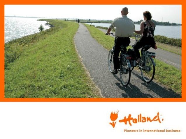 Holanda, país de la bicicleta • 26% de todo el tráfico en bicicleta • Infraestructura favorable al ciclismo • 18 mln. de b...