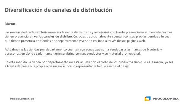 7536325bef3d Diversificación de canales de distribución  27. Marca  Las marcas dedicadas  exclusivamente a la venta de bisutería y accesorios ...