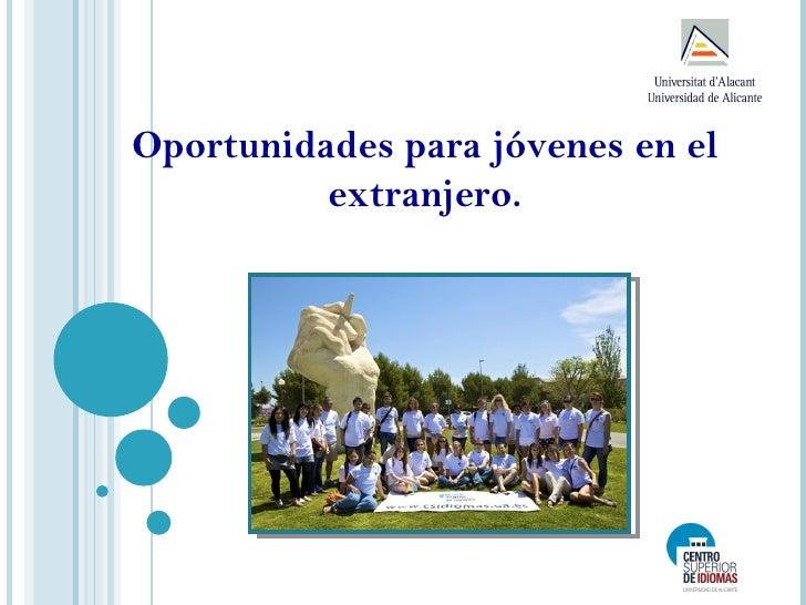 Oportunidades para jóvenes en el          extranjero.
