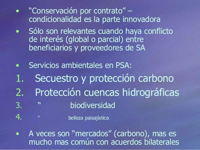 """• """"Conservación por contrato"""" – condicionalidad es la parte innovadora • Sólo son relevantes cuando haya conflicto de inte..."""