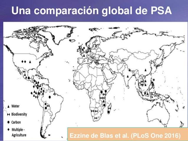 Una comparación global de PSA Ezzine de Blas et al. (PLoS One 2016)