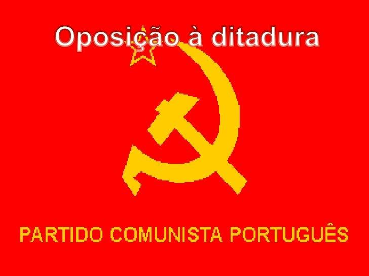 Oposição à ditadura<br />