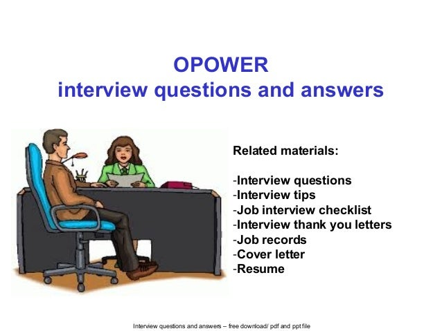 opower interview homework