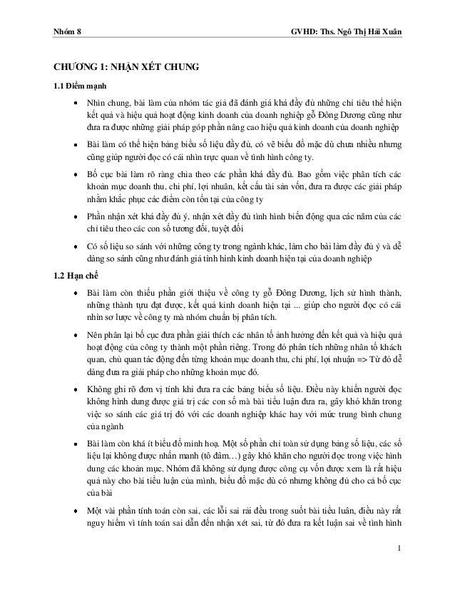 Nhóm 8                                                             GVHD: Ths. Ngô Thị Hải XuânCHƢƠNG 1: NHẬN XÉT CHUNG1.1 ...