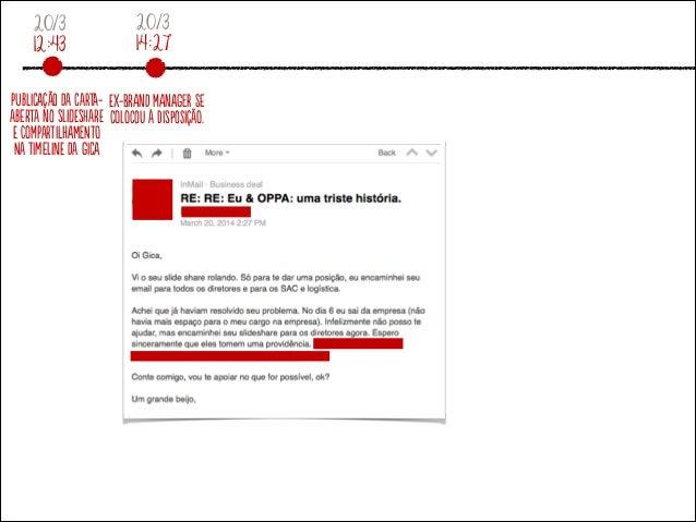 20/3 12:43 PubliCaçãO da Carta- aberTa no slidEsharE E comPartiLhameNto Na tiMelinE da giCa 20/3 14:27 Ex-brAnd mAnageR se...