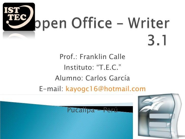 Oppen office – writer 3 1