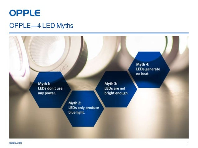 The most common myths about LEDs