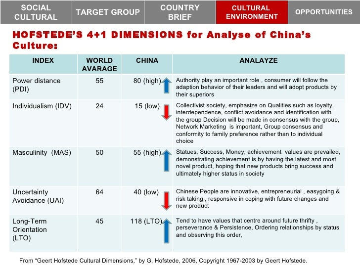 hofstede cultural dimensions china pdf