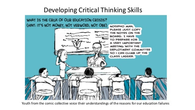opportunities for critical thinking 1 View essay - critical thinking reflection from hum 111 111 at university of phoenix 1 will receiving a college degree improve your career opportunities allison anderson 8/17/14 critical.