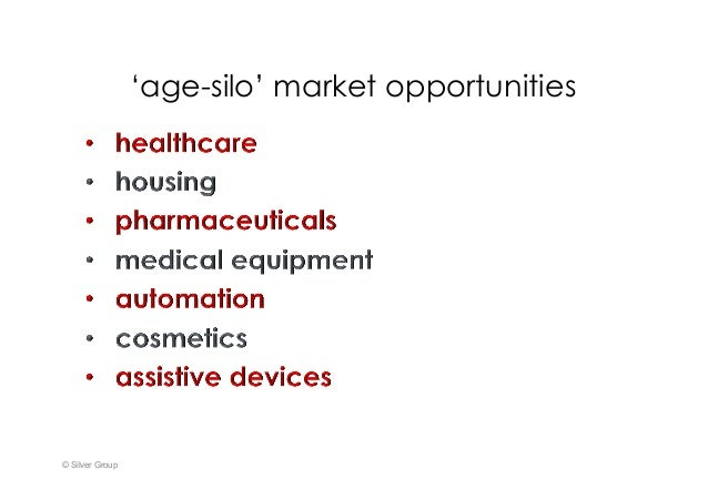 'age-silo' market opportunities © Silver Group