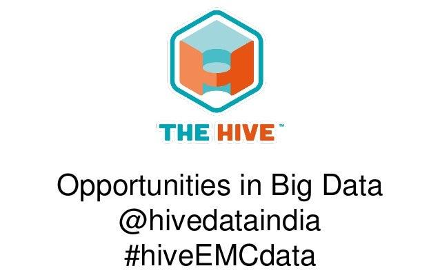 Opportunities in Big Data @hivedataindia #hiveEMCdata