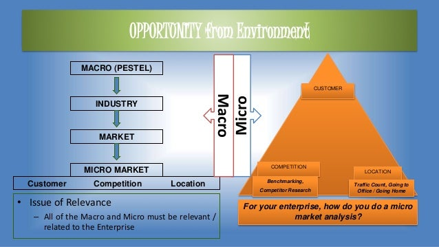 OPPORTUNITY from Environment • Issue of Relevance – All of the Macro and Micro must be relevant / related to the Enterpris...